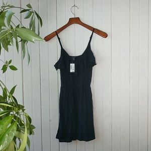 Aeropostale black ruffle cami mini sun dress S P